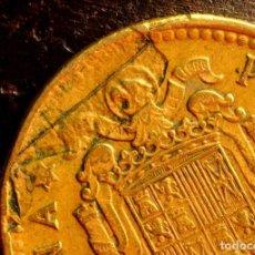 Monedas con errores: UNA PESETA DE 1966*68: LAMINACIÓN, ROTURA DE COSPEL, GRÁFILA DEFECTUOSA (REF. 617). Lote 125176715