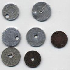 Monedas con errores: RECOPILACIÓN DE MONEDAS CON TALADROS Y MUTILACIONES. ¡¡¡CURIOSO!!!.. Lote 127442675