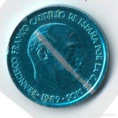 Monedas con errores: ESPAÑA ESTADO ESPAÑOL 10 CÉNTIMOS 1959 COSPEL AZUL SIN CIRCULAR (RARO).. Lote 127957059