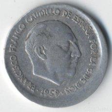 Monnaies avec erreurs: ESPAÑA ESTADO ESPAÑOL 10 CÉNTIMOS 1959 ERROR COSPEL MAYOR.. Lote 127957387