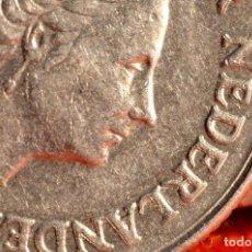 Monedas con errores: 25 CENT 1969 JULIANA HOLANDA: REMARCADA EN EL ANVERSO (REF. 648). Lote 128072699
