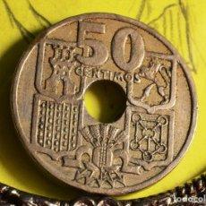 Monedas con errores: 50 CÉNTIMOS 1949*51: ESTRELLAS INVERTIDAS (REF. 655). Lote 128171003