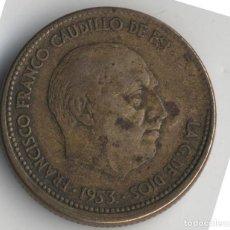 Monedas con errores: ESPAÑA ESTADO ESPAÑOL 2,5 PESETAS 1953 *54 MÚLTIPLES ERRORES. Lote 128195063