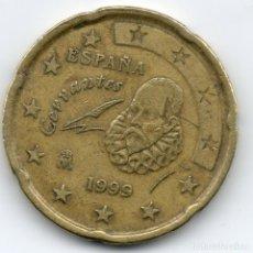 Monedas con errores: MONEDA DE 20 CENT DE EURO DE 1999 CON ERROR EN E DE ESPAÑA. Lote 132141542