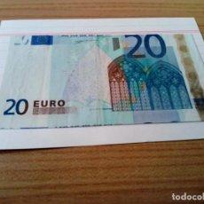 Monedas con errores: BILLETE DE 20 EUROS CON ERROR DE IMPRESION. Lote 133149606