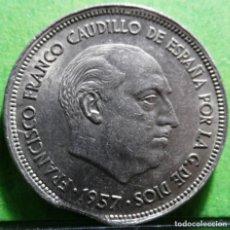 Monedas con errores: ERROR FINAL RIEL, E, ESPAÑOL 25 PESETAS 1957 *68, EBC+ CU-NI. Lote 133661526