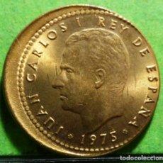 Monedas con errores: ACUÑACION DESPLAZADA, JUAN CARLOS I, 1 PESETAS 1975*19-77 SC, CU. Lote 133662006