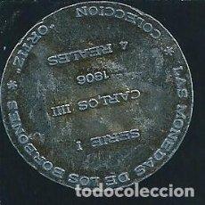 Monedas con errores: 4 REALES, CARLOS III, 1806, LAS MONEDAS DE LOS BORBONES, COLECCIÓN ORTIZ. Lote 134363518