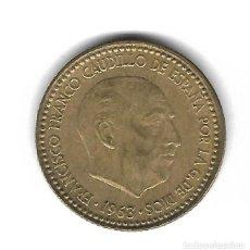 Monedas con errores: MONEDA. 1 PESETA. FRANCISCO FRANCO. 1963. ESTRELLA 64. ERROR: REPINTES ANVERSO Y REVERSO. VER. Lote 135194054
