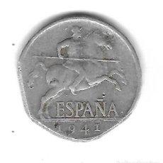 Monedas con errores: MONEDA. 5 CENTIMOS. 1941. ESPAÑA. ERROR: FINAL DE RIEL (CANTO). VER. Lote 135195974