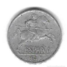 Monedas con errores: MONEDA. 5 CENTIMOS. 1945. ESPAÑA. ERROR: REPINTES ANVERSO (PATA TRASERA CABALLO). VER. Lote 135196634