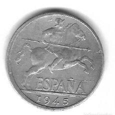 Monedas con errores: MONEDA. 10 CENTIMOS. 1945. ESPAÑA. ERROR: LIGERAMENTE DESCENTRADA. VER. Lote 135198798