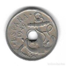 Monedas con errores: MONEDA. 50 CENTIMOS. 1949. ESPAÑA. ESTRELLA 54. ERROR: PERFORACION DESPLAZADA. VER. Lote 135206718