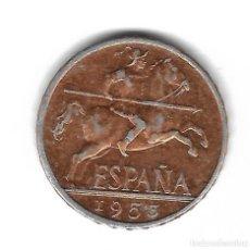 Monedas con errores: MONEDA. 10 CENTIMOS. 1953. ESPAÑA. ERROR: DORADA. VER. Lote 135213318