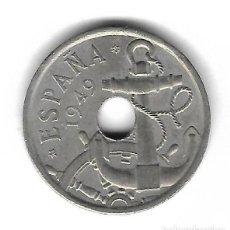 Monete con errori: MONEDA. 50 CENTIMOS. 1949. ESPAÑA. ESTRELLA 51. ERROR: FLECHAS INVERTIDAS. VER. Lote 135214242