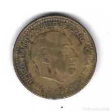 Monedas con errores: MONEDA. 1 PESETA. 1963. FRANCISCO FRANCO. ESTRELLA 64. ERROR: CANTO VARIEDAD MUY RARA. VER. Lote 135287102