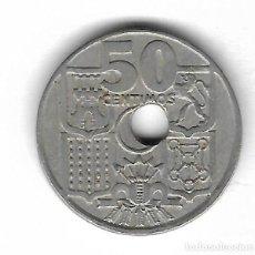 Monedas con errores: MONEDA. 50 CENTIMOS. 1949. ESPAÑA. ESTRELLA 62. ERROR: PERFORACION DESPLAZADA. VER. Lote 135287426