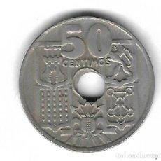 Monedas con errores: MONEDA. 50 CENTIMOS. 1963. ESPAÑA. ESTRELLA 64. ERROR: PERFORACION DESPLAZADA. VER. Lote 135287518