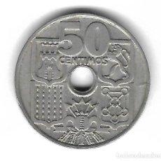 Monedas con errores: MONEDA. 50 CENTIMOS. 1963. ESPAÑA. ESTRELLA 64. ERROR: PERFORACION MAS PEQUEÑA. VER. Lote 135287538