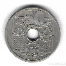 Monedas con errores: MONEDA. 50 CENTIMOS. 1963. ESPAÑA. ESTRELLA 55. ERROR: RARA PERFORACION EN VARIAS FASES. VER. Lote 135287566