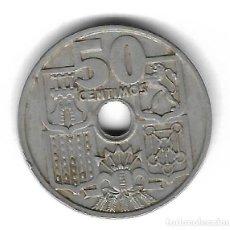 Monedas con errores: MONEDA. 50 CENTIMOS. 1963. ESPAÑA. ESTRELLA 65. ERROR: PERFORACION DESPLAZADA. VER. Lote 135287610