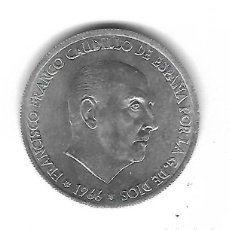 Monedas con errores: MONEDA. 50 CENTIMOS. 1966. FRANCISCO FRANCO. ESTRELLA 68. ERROR: GIRADA 30º. VER. Lote 135291274