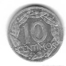 Monedas con errores: MONEDA. 10 CENTIMOS. 1959. FRANCISCO FRANCO. ERROR: GIRADA CASI MEDALLA. VER. Lote 135291678
