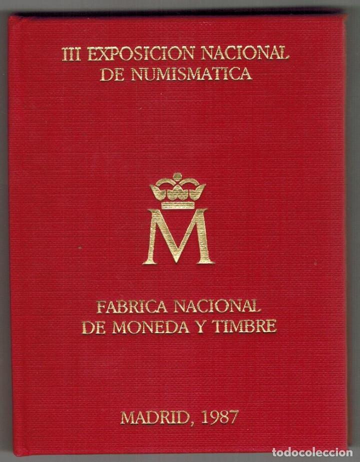CARTERA DE LA F.N.M.T. E-87 DE LA III EXPOSICIÓN NUMISMATICA AÑO 1987 (Numismática - España Modernas y Contemporáneas - Variedades y Errores)