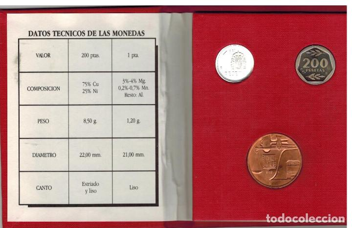 Monedas con errores: CARTERA DE LA F.N.M.T. E-87 de la III EXPOSICIÓN NUMISMATICA AÑO 1987 - Foto 2 - 135432726