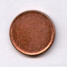 Monedas con errores: * ERROR **** COSPEL DE UN CENT EURO SIN ACUÑAR ******** MUY RARA Y ESCASA. Lote 136379357