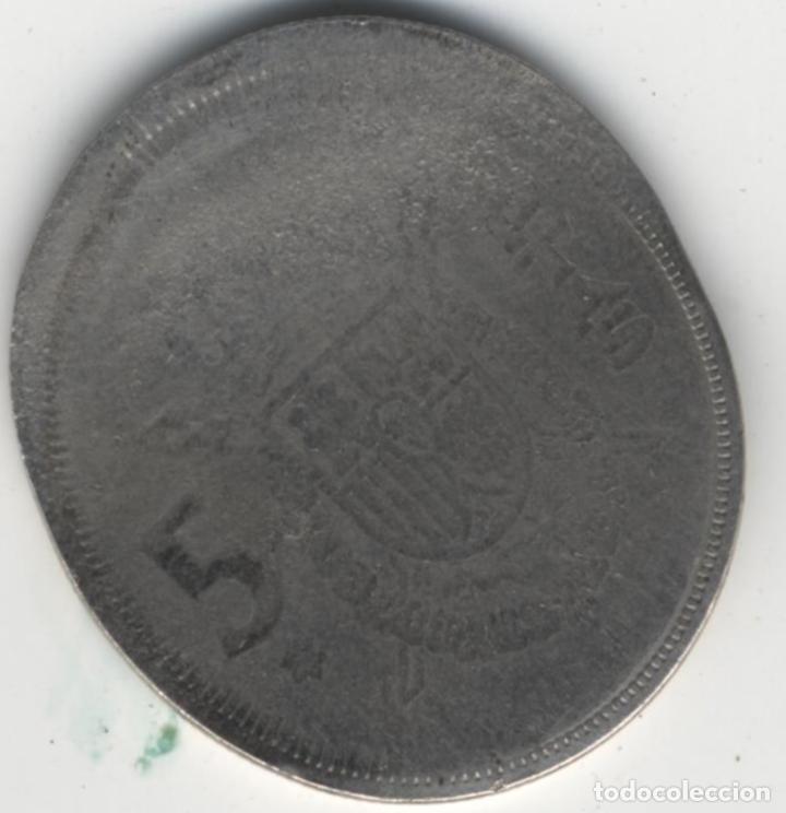 Monedas con errores: ESPAÑA ESTADO ESPAÑOL&JUAN CARLOS I - 5 PESETAS -ERROR/MANIPULACIÓN- - Foto 4 - 136822762