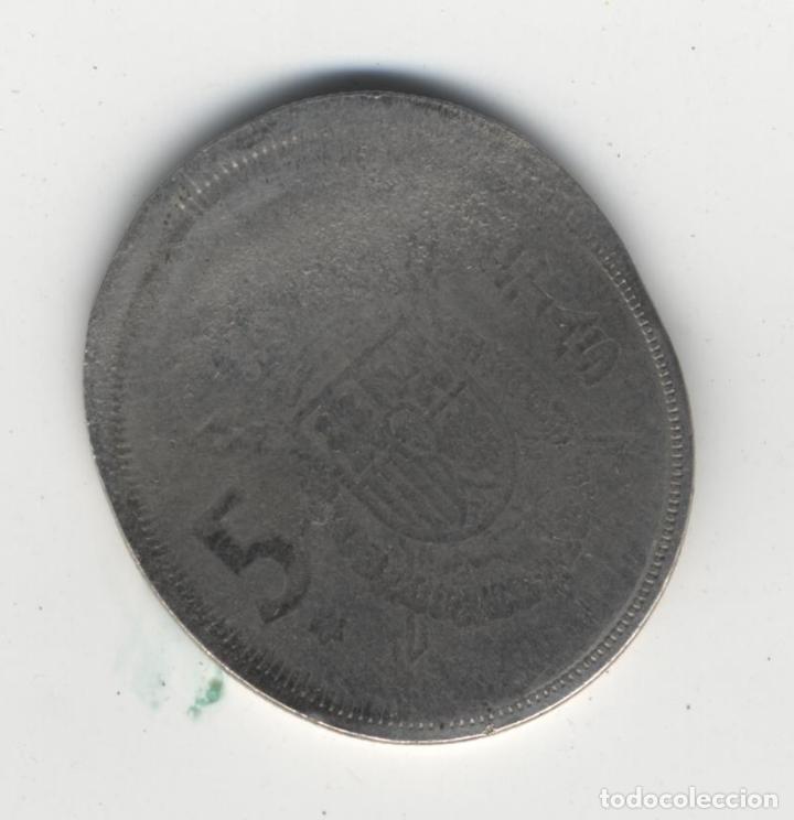 Monedas con errores: ESPAÑA ESTADO ESPAÑOL&JUAN CARLOS I - 5 PESETAS -ERROR/MANIPULACIÓN- - Foto 5 - 136822762