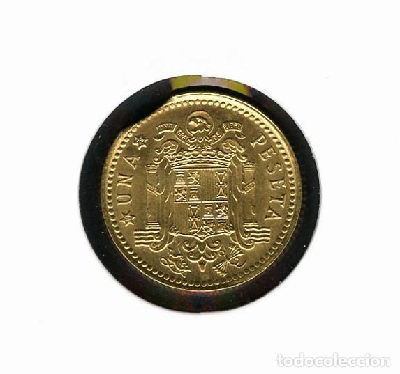Monedas con errores: ESPAÑA, MONEDA, ERROR, VARIANTE, JUAN CARLOS I, 1 PESETA, ERROR DE COSPEL, 1975, *76 - Foto 2 - 141227554
