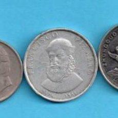 Monedas con errores: LOTE DE SEIS MONEDAS VARIAS . Lote 143280002
