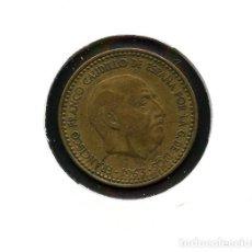 Monedas con errores: ESPAÑA, MONEDA, ERROR, VARIANTE, ESTADO ESPAÑOL, INCUSA, 1 PESETA, 1963, *65. Lote 143396586