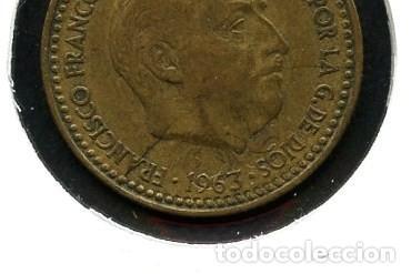 Monedas con errores: ESPAÑA, MONEDA, ERROR, VARIANTE, ESTADO ESPAÑOL, INCUSA, 1 PESETA, 1963, *65 - Foto 2 - 143396586