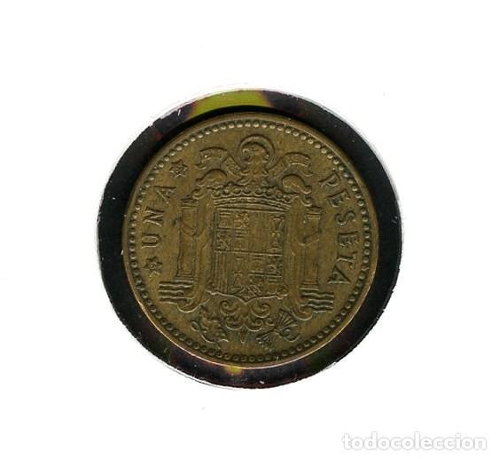 Monedas con errores: ESPAÑA, MONEDA, ERROR, VARIANTE, ESTADO ESPAÑOL, INCUSA, 1 PESETA, 1963, *65 - Foto 3 - 143396586