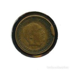 Monedas con errores: ESPAÑA, MONEDA, ERROR, VARIANTE, ESTADO ESPAÑOL, CUÑO, 1 PESETA, 1953, *56. Lote 143399346