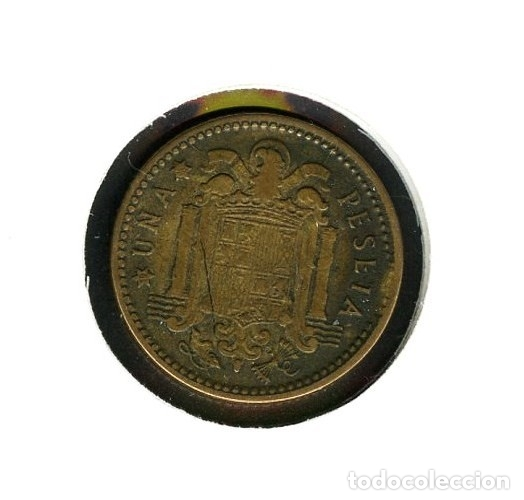 Monedas con errores: ESPAÑA, MONEDA, ERROR, VARIANTE, ESTADO ESPAÑOL, CUÑO, 1 PESETA, 1953, *56 - Foto 3 - 143399346