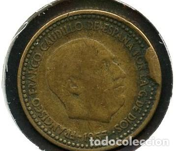 Monedas con errores: ESPAÑA, MONEDA, ERROR, VARIANTE, ESTADO ESPAÑOL, CUÑO, 1 PESETA, 1953, *56 - Foto 2 - 143399346