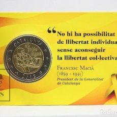 Monedas con errores: COINCARD / PRUEBA NUMISMÀTICA DE CATALUÑA / CATALUNYA 2018 - COIN CARD. Lote 143405129