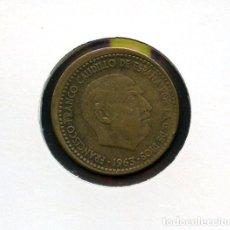Monedas con errores: ESPAÑA, MONEDA, ERROR, VARIANTE, ESTADO ESPAÑOL, 1 PTA, DESPLAZADA, 1963, *63. Lote 144283798