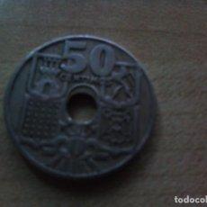 Monedas con errores: MONEDA DE 50 CENTIMOS ESTADO ESPAÑOL 1949 53 CON AGUJERO DESPLAZADO. Lote 144483794