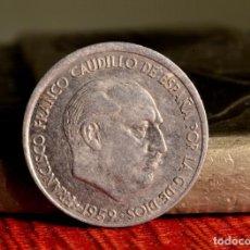 Monedas con errores: 10 CÉNTIMOS 1959: DESCUADRE EN ANVERSO, COSPEL DEFECTUOSO Y REPINTES (REF. 671). Lote 144767850