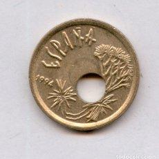 Monedas con errores: * ERROR * BONITO Y ESCASO. TALADRO CENTRAL MUY DESPLAZADO 25 PESETAS AÑO 1994. Lote 144927548