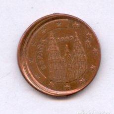 Monedas con errores: * ERROR RARISIMO * EN LAS MONEDAS DE 1 CENT. AÑO 1999 ESPAÑA DESPLAZADA. Lote 145162500