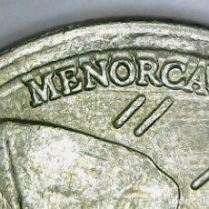 Monedas con errores: * ERROR *. 5 PESETAS 1997. BANDA DE MATERIAL EN MENORCA. Lote 145360400