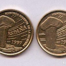 Monedas con errores: ERROR. VARIANTE DE CUÑO, GRABADO MAYOR EN REVERSO. 5 PESETAS 1997. OBSERVESE EL TAMAÑO DE LAS LETRAS. Lote 145890601