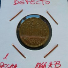 Monedas con errores: 1 PESETA 1966 CON PELLIZCO. Lote 147049152