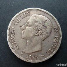 Monedas con errores: MONEDA DE PLATA ALFONSO XII DE 1875 CON ERROR EN EL PABELLON AUDITIVO ( RARA). Lote 147771470